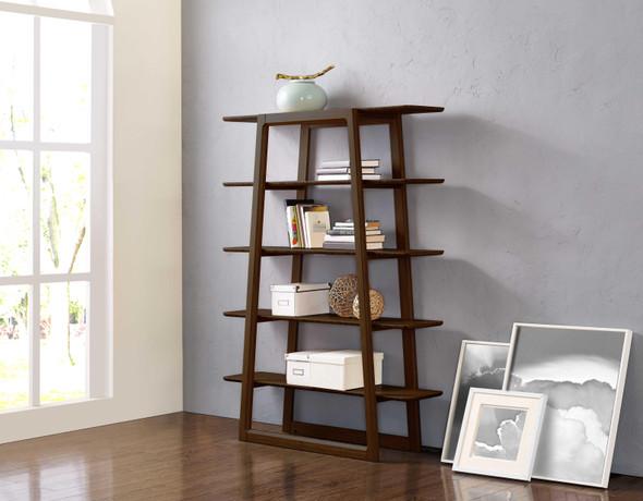 "46.55"" x 13.25"" x 61.8"" Bookshelf, Black Walnut"