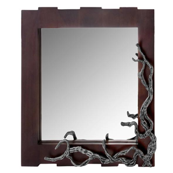 "3"" x 33"" x 32"" Brown amp; Silver, Vine - Wall Mirror"