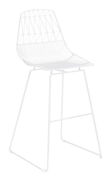 "22"" x 22"" x 43.5"" White, Steel, Bar Chair - Set of 2"