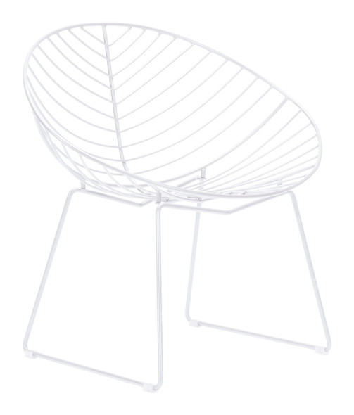 "33.9"" x 22.4"" x 32.1"" White, Steel, Outdoor Lounge Chair - Set of 2"