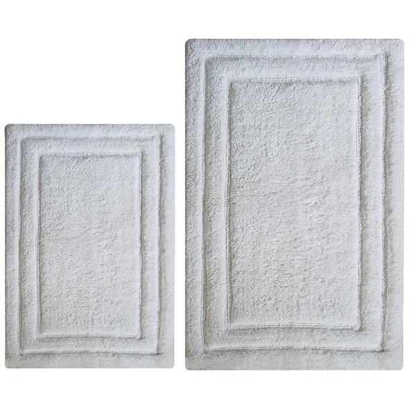 Classic 2 Pc Bath Rug Set - White
