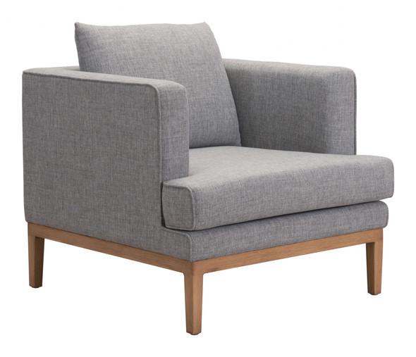 "31.5"" x 34.6"" x 33.5"" Gray, Sunproof Fabric, Powder Coated Aluminum, Arm Chair"
