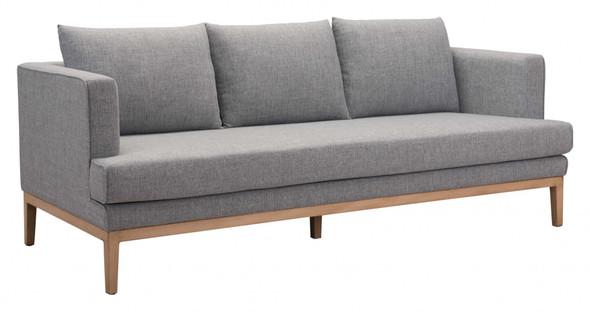 """81.5"""" x 34.6"""" x 33.5"""" Gray, Sunproof Fabric, Powder Coated Aluminum, Sofa"""