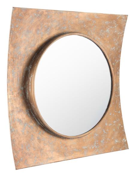 """31.5"""" x 3.3"""" x 31.5"""" Gold, Mirror, Steel amp; MDF, Mirror"""