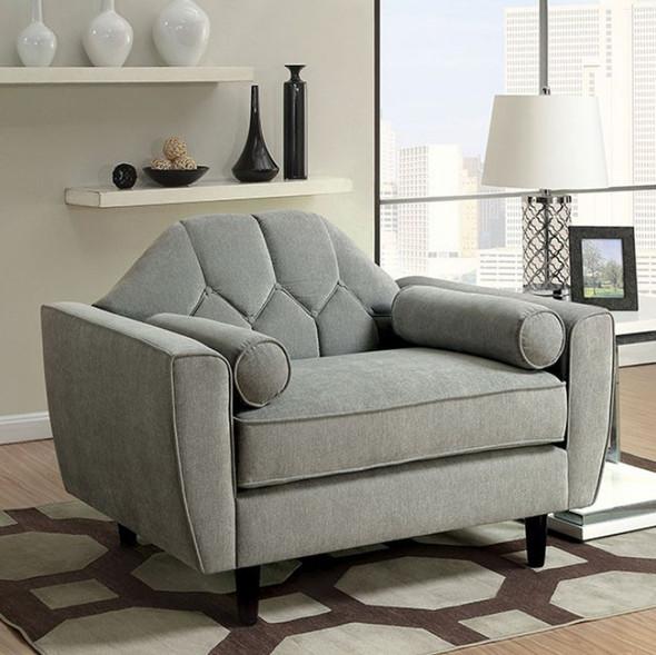 Contemporary Chair, Gray - 301596
