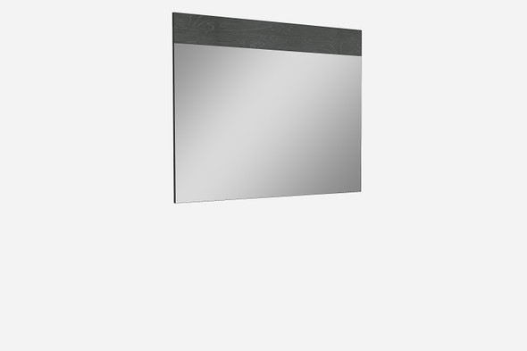 "63"" X 1"" X 48"" Gloss Grey Glass Mirror"