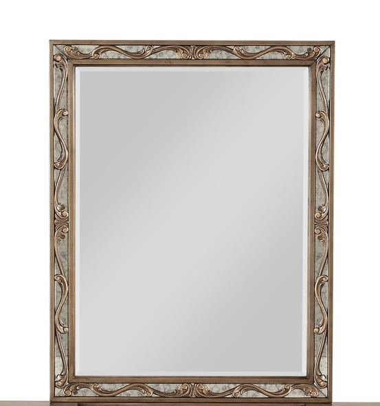 "2"" X 30"" X 38"" Antique Gold Wood Vanity Mirror"