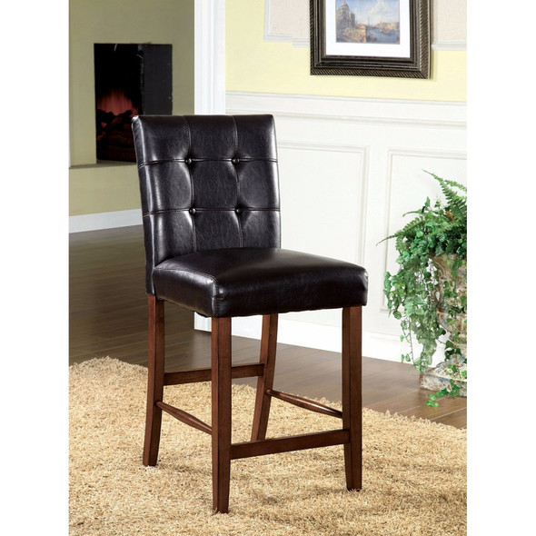 Contemporary Pub Chair, Dark Oak, Set Of 2