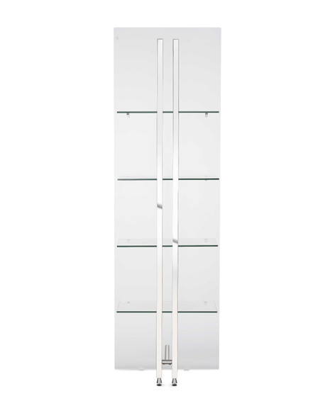 "24"" X 13"" X 77"" Back Glass Bookshelf - 372194"