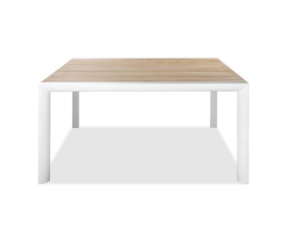 "60"" X 60"" X 30"" White Aluminum Dining Table"