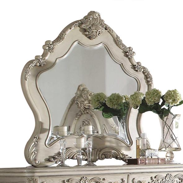 "3"" X 46"" X 48"" Antique White Wood Mirror"