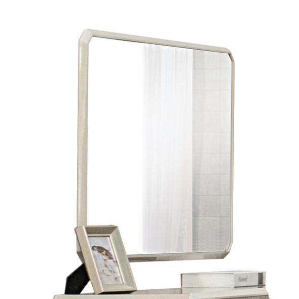 """1"""" X 47"""" X 31"""" Vintage Beige PU Wood Veneer (Melamine) Mirror"""