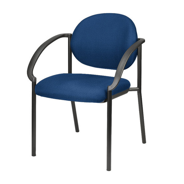 """24"""" x 19.7"""" x 32.3"""" Navy Fabric Guest Chair"""