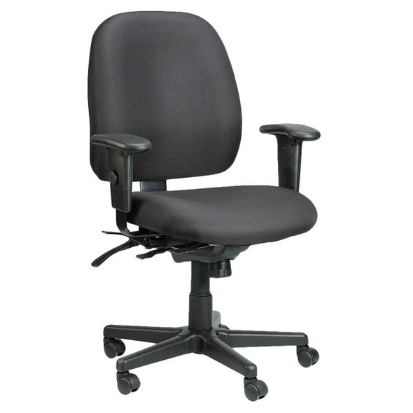 "29.5"" x 26"" x 37"" Black Tilt Tension Control Fabric Chair"