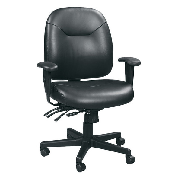"29.5"" x 26"" x 37"" Black Leather Chair"