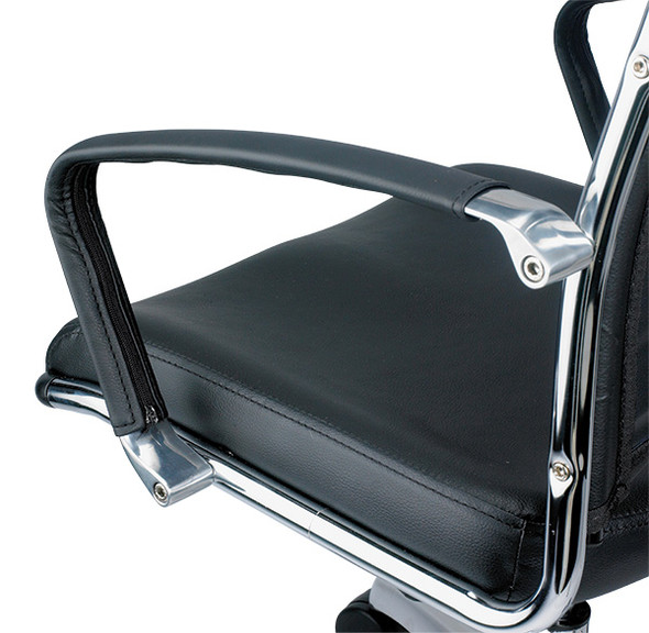 """22"""" x 25.5"""" x 35.4"""" Black Leather Guest Chair - 372380"""