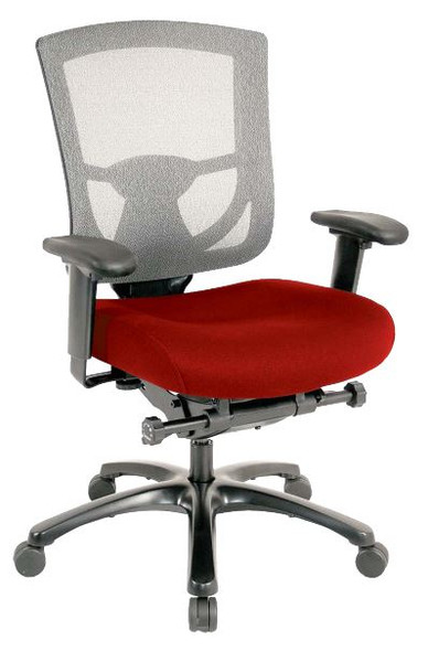 "27.2"" x 25.6"" x 39.8"" Red Mesh/Fabric Chair"