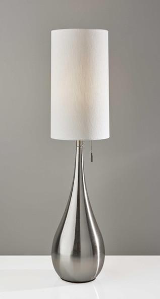 "9"" X 9"" X 34.5"" Brushed Steel Metal Table Lamp"