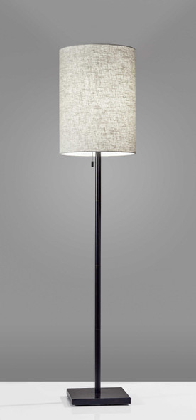 "13"" X 13"" X 60.5"" Bronze Metal Floor Lamp"