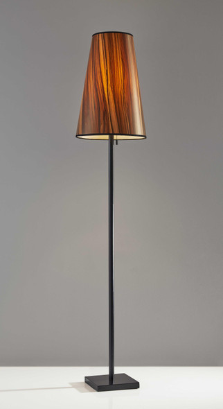 "13"" X 13"" X 64.5"" Black Metal Floor Lamp"