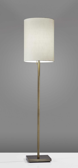 "13"" X 13"" X 60.5"" Brass Metal Floor Lamp"