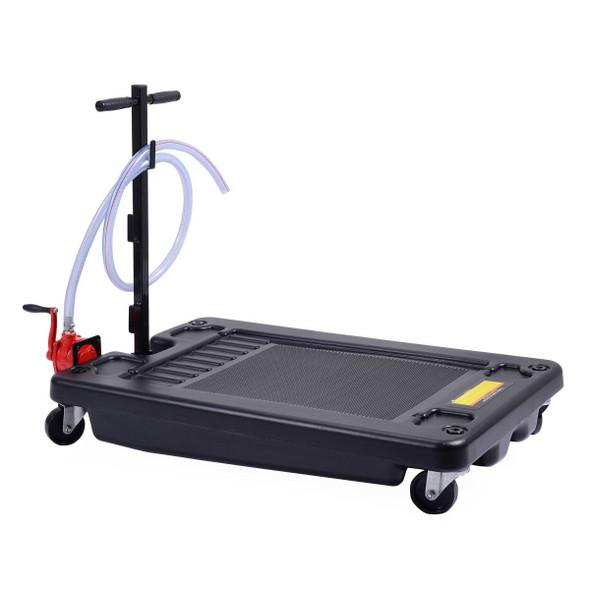 8' Hose 17 Gallon Low Profile Portable Oil Drain