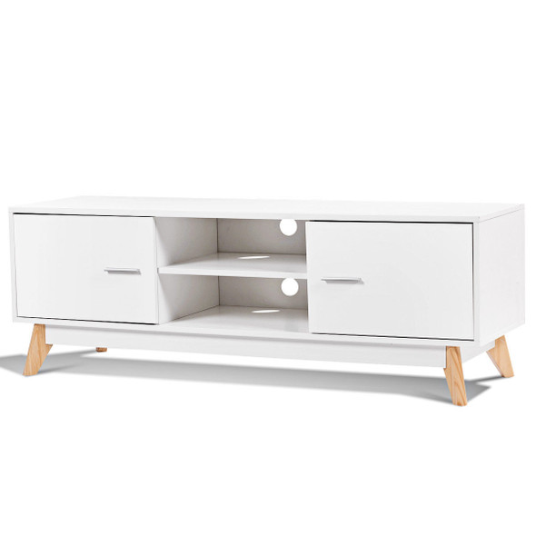 Entertainment Center Console Cabinet TV Stand with 2 Doors