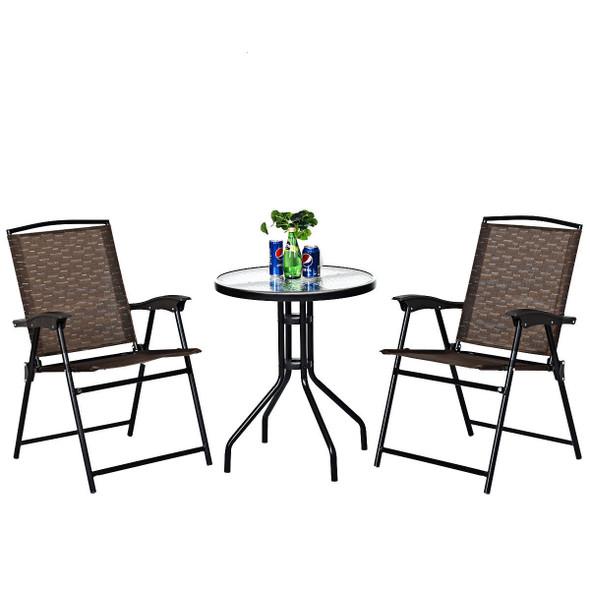 3 pcs Bistro Patio Garden Furniture Set