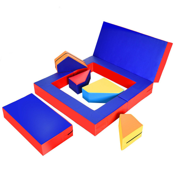 4-in-1 Crawl Climb Foam Shapes Toddler Kids Playset