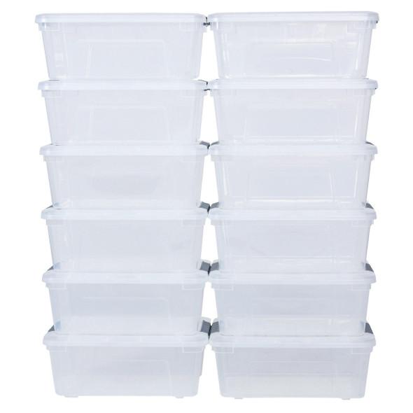 Sturdy Plastic Latch Stack Storage Tubs Box