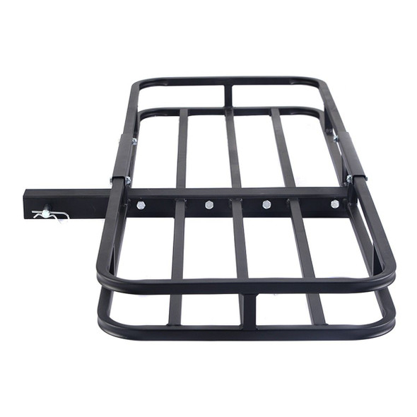 "500 LBS Steel Cargo Carrier Luggage Basket 2"" Receiver Hitch Hauler"