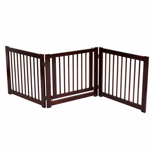 """24"""" Configurable Folding 3 Panel Wood Dog Fence"""