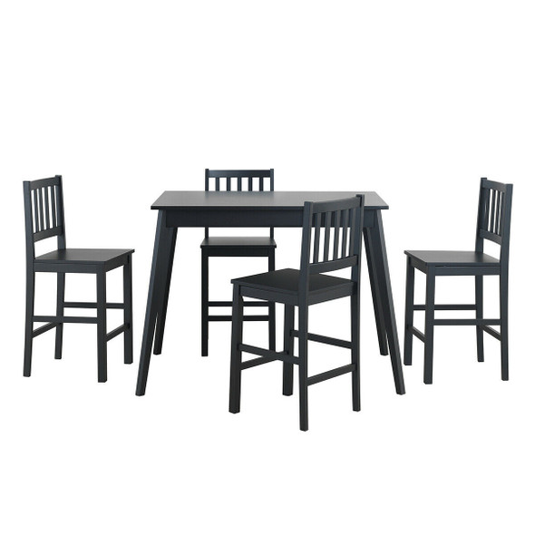5 Piece Counter Height Dining Set Kitchen Table