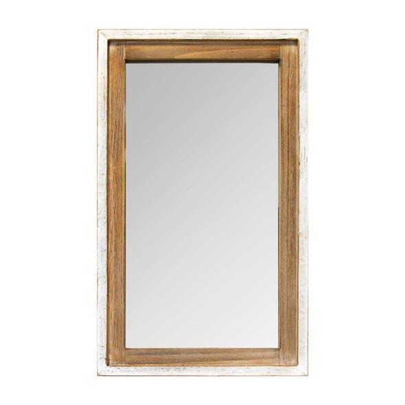 "16.5"" X 1.5"" X 27"" White Natural Mirror Woos Mdf Mirror"