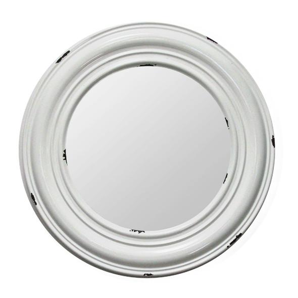 """24.75"""" X 2.5"""" X 24.75"""" White Metal Mirror Mdf Mirror"""
