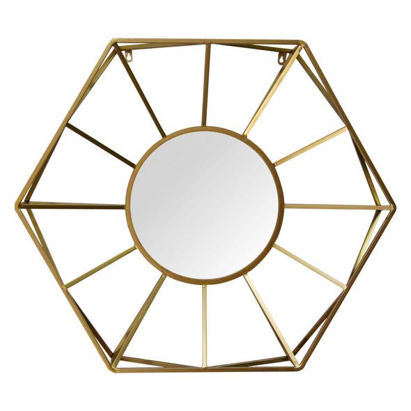 "32.5"" X 4.53"" X 28.5"" Gold Glass Mdf Metal Gold Mirror"