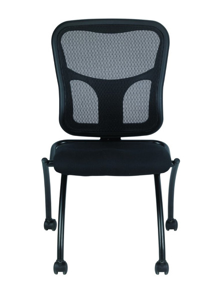 "24"" x 24.5"" x 37.5"" 5807 Black Mesh / Fabric Guest Chair"