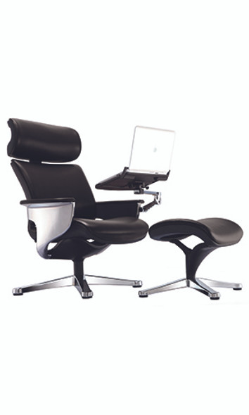 """32.5"""" x 32.3"""" x 40.75"""" Black Leather Chair"""