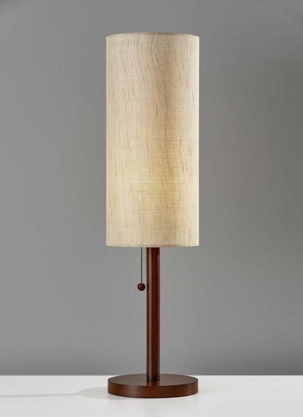 """8"""" X 8"""" X 31"""" Walnut Wood Table Lamp"""