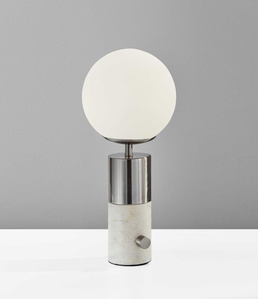 "7"" X 7"" X 17.5"" Black Metal Table Lamp"