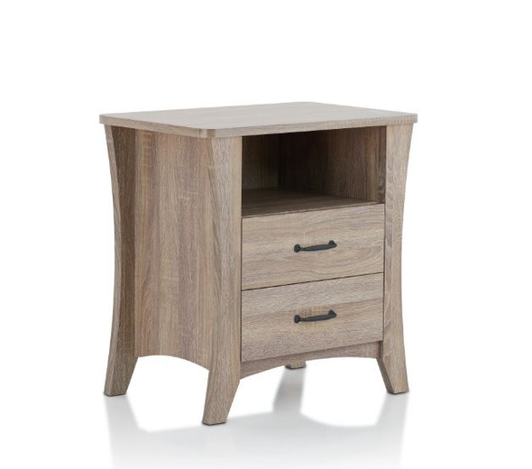 """24"""" X 16"""" X 24"""" Rustic Natural Particle Board Nightstand"""