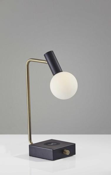 """4.75"""" X 11.25"""" X 17.5"""" Black Metal LED Desk Lamp"""