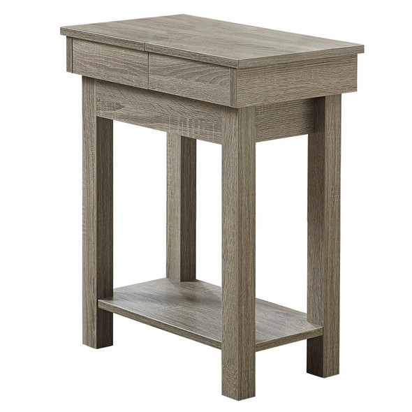 """20"""" x 11.75"""" x 24"""" Dark Taupe, Particle Board, Hollow-Core, Storage - Accent Table"""