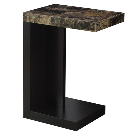 "11.5"" x 18"" x 24"" Cappuccino, Hollow-Core, Particle Board - Accent Table - 333093"