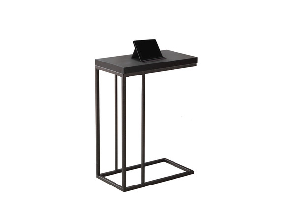"""18.25"""" x 10.25"""" x 25.25"""" Cappuccino, Particle Board, Metal - Accent Table - 333019"""