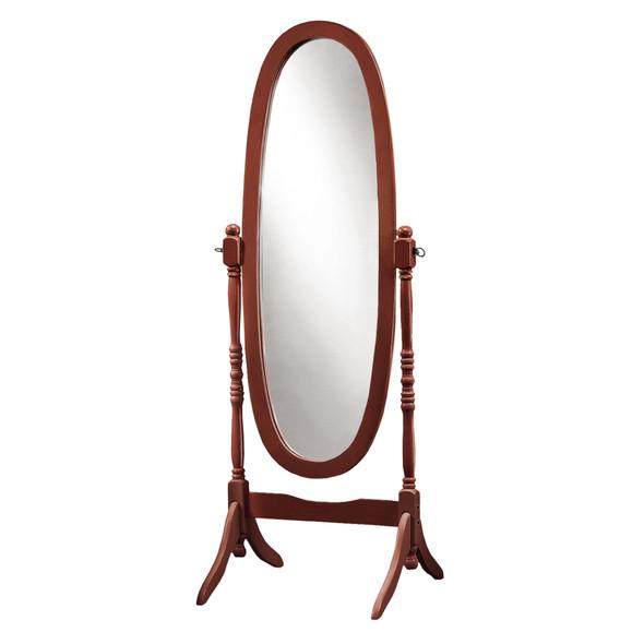 """20"""" x 23"""" 59"""" Walnut, Oval Wood Frame - Mirror"""