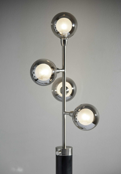 """9.5"""" X 11.5"""" X 28"""" Brushed steel Metal LED Table Lamp"""