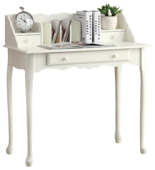 "18.25"" x 36"" x 38"" Antique White - Desk"