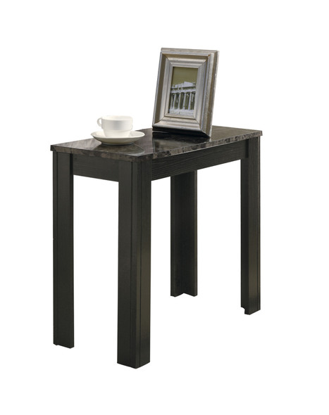 """12"""" x 23.75"""" x 21.5"""" Black, Grey, Particle Board, Laminate, Mdf - Accent Table"""