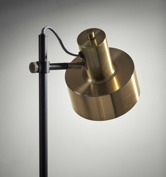 "10"" X 14"" X 56.5"" Brass Metal Floor Lamp"